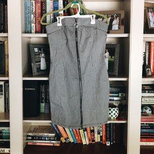 Gingham zip up tube dress